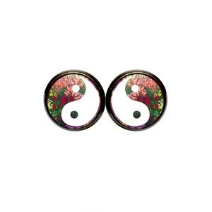 Wildflower Yin Yang Earrings